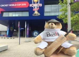 Basil Bear dressed for Cricket