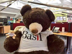 Little Basil with giant Papa Basil