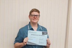 St Basils NHS Live and Work apprentice Christopher