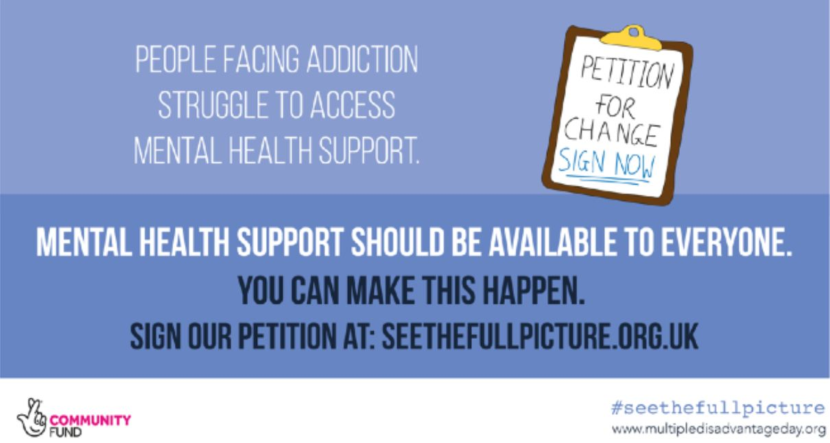 #SeetheFullPicture campaign calls for mental health support to be easier to access for those facing addiction