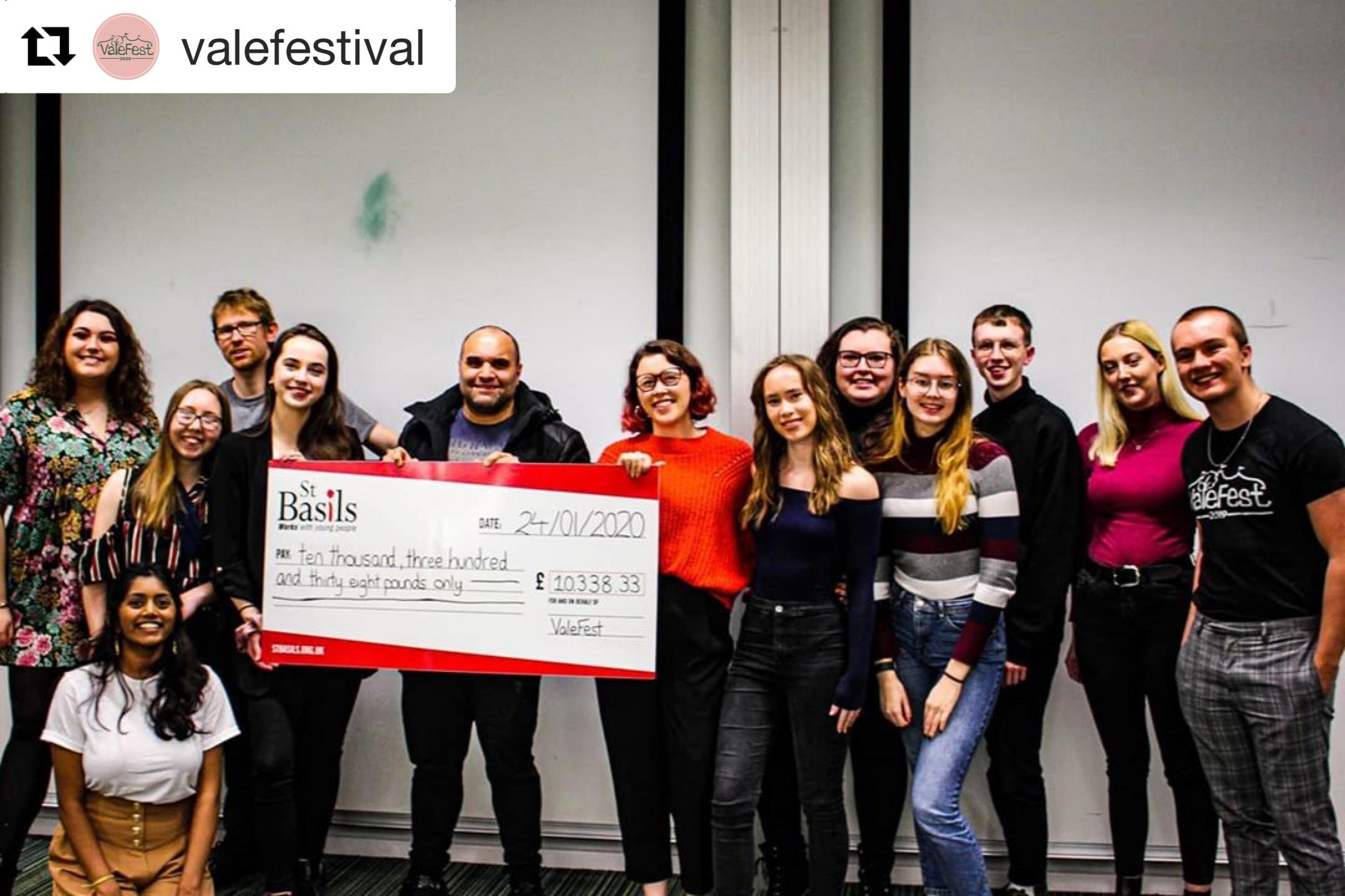 University of Birmingham student's Vale Festival raises over £10K for St Basils!