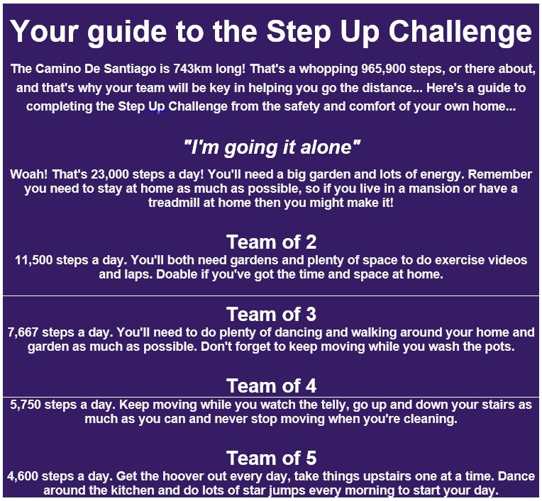 step up challenge guide