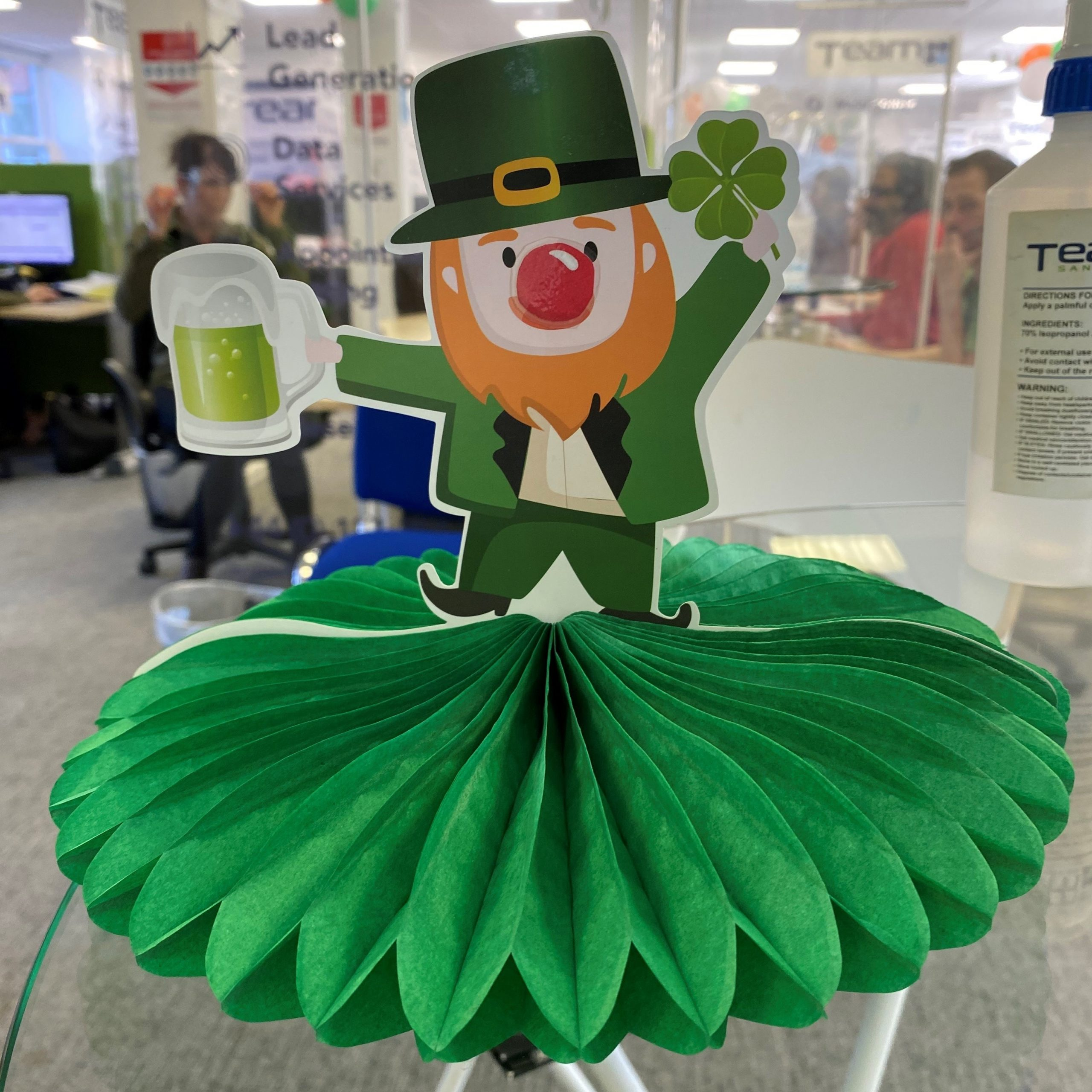 Team Telemarketing hold Leprechaun's Big Red Nose Day to raise funds for Charity partners