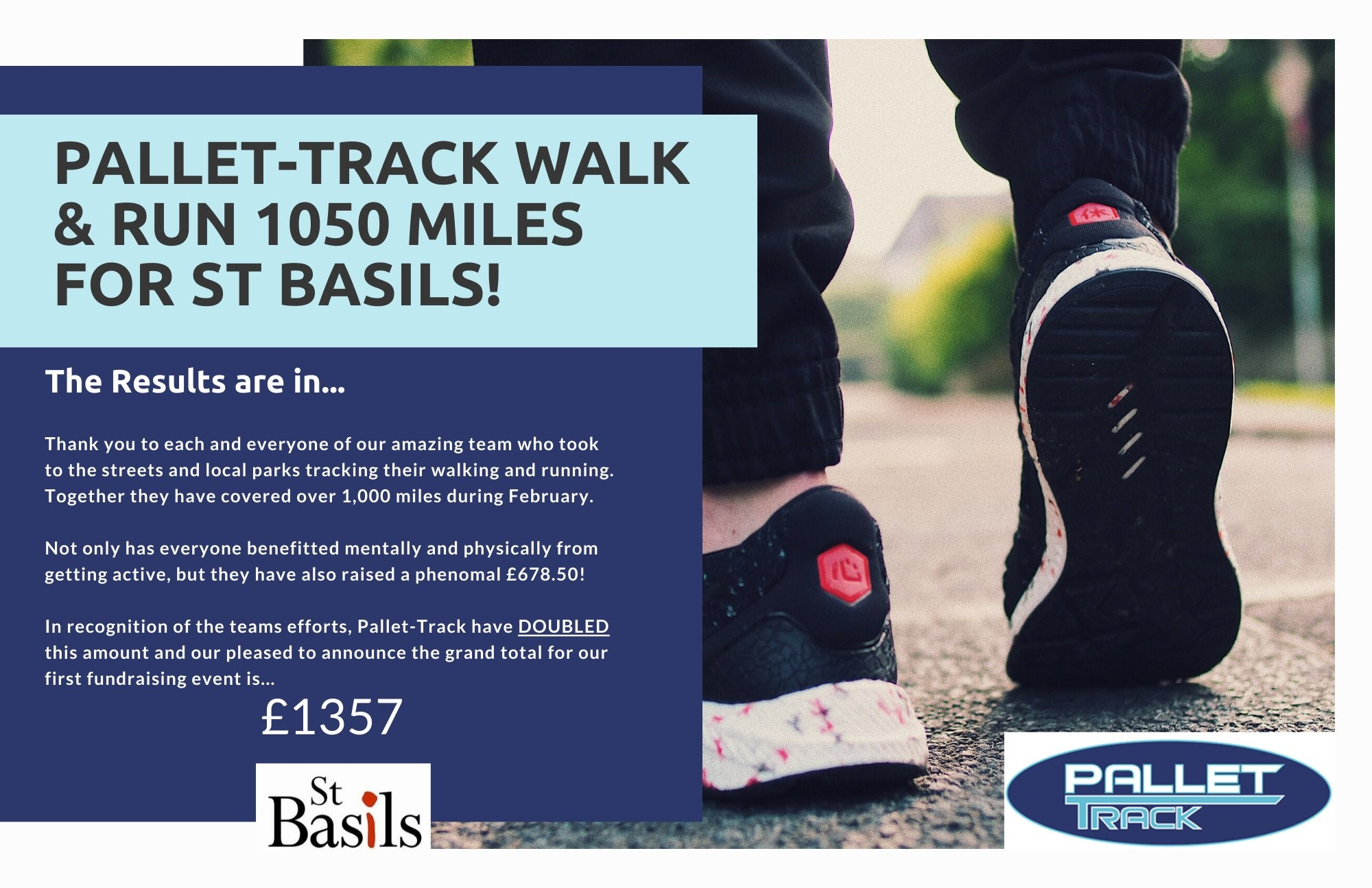 New fundraising partners Pallet Track have already raised over £1000