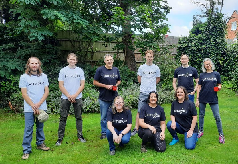 Paragon Bank volunteers tidied emergency schemes' garden for young residents to enjoy!
