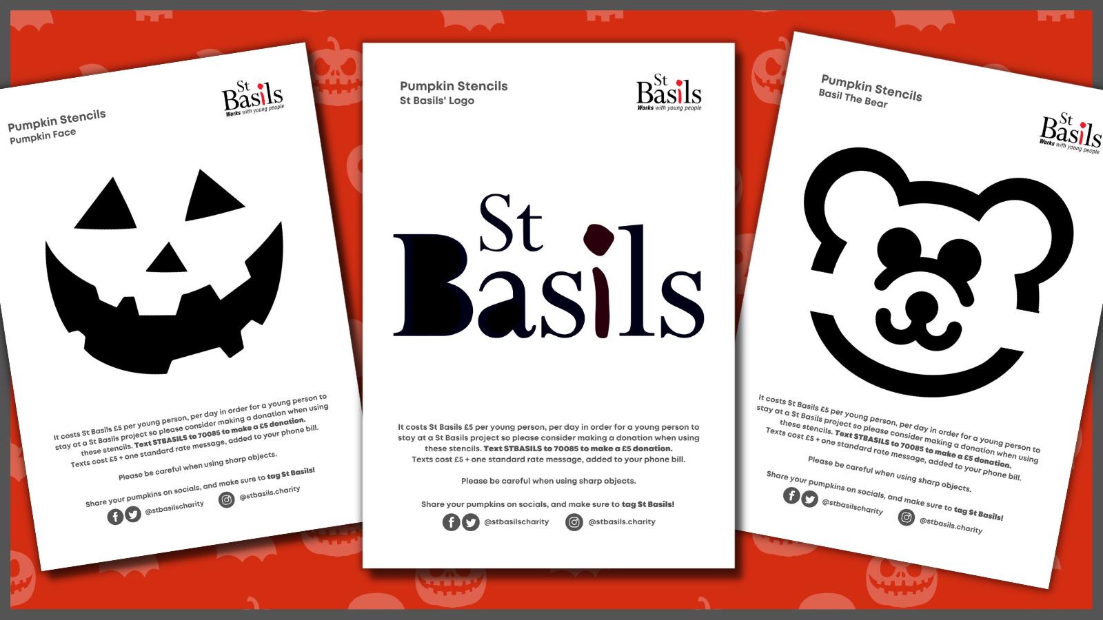 St Basils' Spook-tacular Pumpkin Stencils